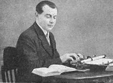 Roger Christiaens uit Sint-Niklaas, de 'koning-prikker' van Licht en Liefde, aan het werk (1939)