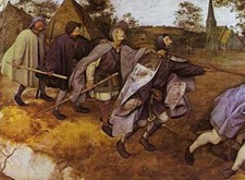 Schilderij 'De parabel van de blinden' van Brueghel