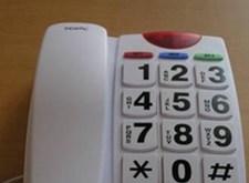 Telefoontoestel met grote cijfers