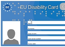 De European Disability Card: een blauw pasje