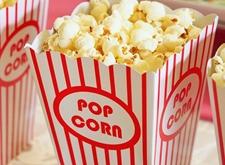 Een doosje popcorn