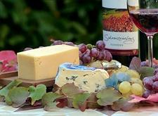 Kaas, wijn en druiven