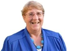 Christiane Schietse, lachend