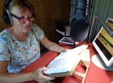 Voorlezer Martine in actie