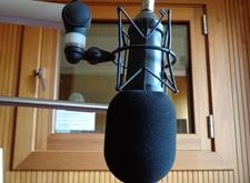 Microfoon in een van onze studio's