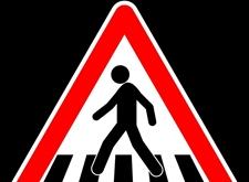 Verkeersbord dat waarschuwt voor oversteekplaats voetgangers