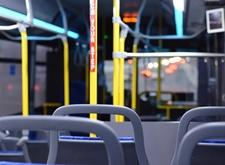 Interieur van een lijnbus